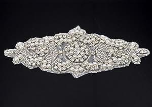 Shinybeauty strass applique per abiti da sposa cristallo ssash