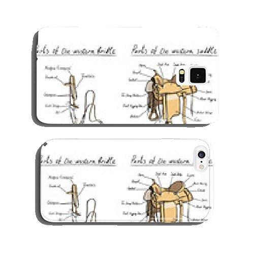 Teile Western Sattel und Zaumzeug. Pferd Tack Handy Tasche Cover Case Samsung S5 (Pferd Sättel Western)