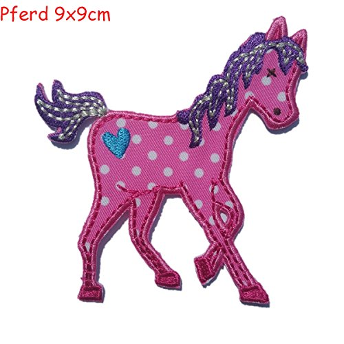 51kySRvbOmL UK BEST BUY #12 Applique Patches iron on fabric Piggy 7x6 and Horse 9x9cm TrickyBoo Design Zurich price Reviews uk