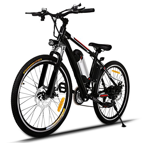 YUEBO Electric Mountain Bike with 26 inch E-bike 36V Removable Lithium-Ion Battery and 250W High Speed Brushless Motor