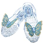 Sparkle with every step with the Enchanted Waltz Light Up Glass Slippers from Disney's Cinderella. Infused with silver glitter, these beautiful jelly shoes light up in the heel and feature and adjustable strap for comfort. Glittery butterflies adorn ...