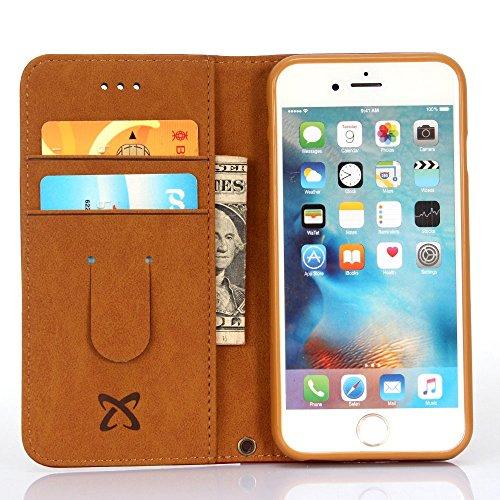 iPhone 6S/iPhone 6Custodia, A-BEAUTY–Custodia Ultra Sottile in Pelle Stile Portafoglio + 1cavo USB per Apple Iphone 6s/iphone 64.7Inch Dark Green iPhone 6 Plus / 6S Plus Blue