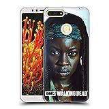 Head Case Designs Offizielle AMC The Walking Dead Michonne Persönlichkeiten Ruckseite Hülle für Huawei Honor 7A Y6 Prime 2018