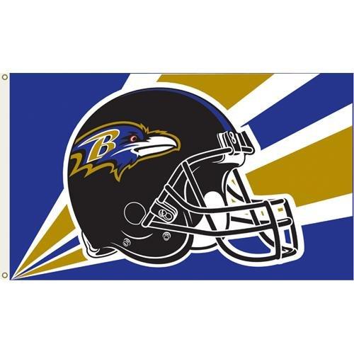 e Ravens NFL Helm-Banner-Flagge, 90 x 150 cm ()