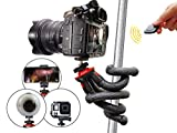 flexibles Stativ mit Bluetooth und deutscher Anleitung, Selfiestick, leichtes Reisestativ für Smartphones, z.B. iPhone X, Samsung S7 edge S8+ S9+, Huawei P10 P20, DSLR Canon, Nikon, Sony, Actioncam GoPro uvm., Atairs