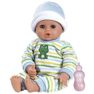 Adora PlayTime Baby Boy Doll, Little Prince, Washable Toy Doll with Soft Weighted Body and Eyes that Open and Close, Comes with Bottle, 13-inches (Ages 1+)