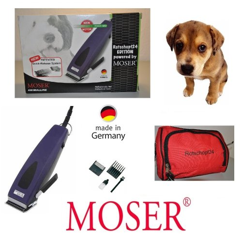 Rotschopf24 Edition: Moser professionale tosatrice 1233rex sschnellwechselsc hneidsatz. Potente + silenzioso. Made In Germany.