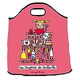 Sac à jouets Louloute - rose - Derrière la porte
