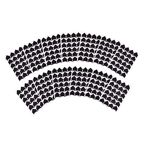 iGadgitz Home U7010 - Fotoecken Selbstklebend in verschiedenen Farben - Schwarz, Weiß, Gold oder Silber - Fotoecken zum Aufhängen, Fotoecken Aufkleber - Schwarz - 312 Stücke