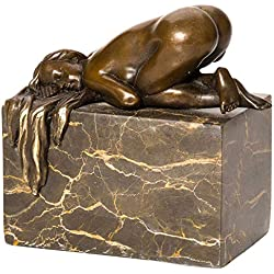 aubaho Bronzeskulptur Skulptur Frau Akt Erotik Nude Bronzefigur Bronze Figur Antik-Stil