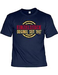 Geburtsjahr 1987 T-Shirt zum 30. Geburtstag EINZELSTÜCK ORIGINAL seit 1987 Geburtstagsgeschenk Geschenkidee 30 Geb für Ihn ein liebes Geschenk mit Jahrgang 1987 klassisches Shirt : )