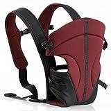 ECOSUSI Babytrage 100% Polyester Bauch und Hüfttrage (3.6 - 9.1 kg) 3 Tragepositionen: Blickrichtung zum Elternteil, Blickrichtung zur Straße, auf dem Rücken des Elternteils