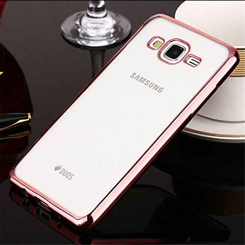 Klar Lagerbehälter (ARTLU® Galaxy J5 Ledertasche ultradünne Silikon-Gel-Kasten-TPU Schutzüberzug -Fall für Samsung Galaxy J5 Rose Gold)