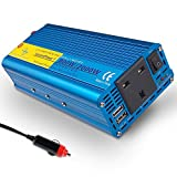 luyuanIPower Auto Boot 800 W/2000 W (Peak) reiner Sinus Wechselrichter Soft Start 12 V DC zu 230 V AC Inverter