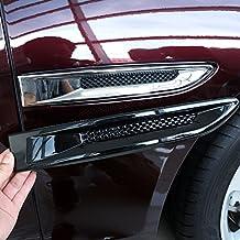 Accesorios adhesivos para lateral de coche, cubierta de salida de ventilación de ABS, ...