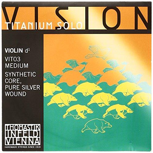 Thomastik Vision Titanium Solo Violin Strings D, Titanium 4/4 Size (japan import)