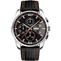 NICERIO Reloj electrónico Multifuncional Relojes de Pulsera Impermeables Relojes Deportivos al Aire Libre (Naranja)
