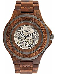 WeWood Herren Automatik-Holzuhr Marsh Nut Gun WW62001