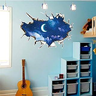 Xzfddn Wohnkultur 3D Wandaufkleber Sterne Serie Boden Wandaufkleber Removable Decals Vinyl Wandkunst Für Wohnzimmer Adesiv