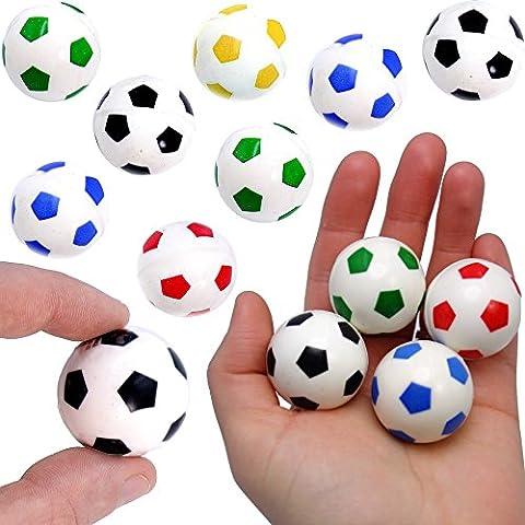 German Trendseller® - 24 x Springbälle Fußball - Mix für Kinder ★ NEU ★ ┃ Kindergeburtstags Mix ┃ Mitgebsel ┃ SUPER Sprungkraft ✔ ┃ 24 Stück