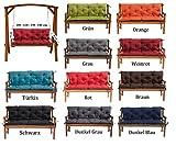 Gartenbankauflage Bankauflage Bankkissen Sitzkissen 100 x 60 x 50 cm Polsterauflage Sitzpolster (dunkelgrau)