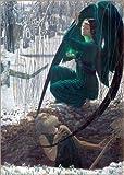 Impresión en madera 70 x 100 cm: La mort et le fossoyeur de Carlos Schwabe