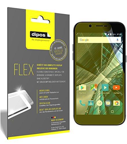 dipos I 3X Schutzfolie 100prozent passend für Archos 55 Graphite Folie (Vollständige Bildschirmabdeckung) Bildschirmschutzfolie