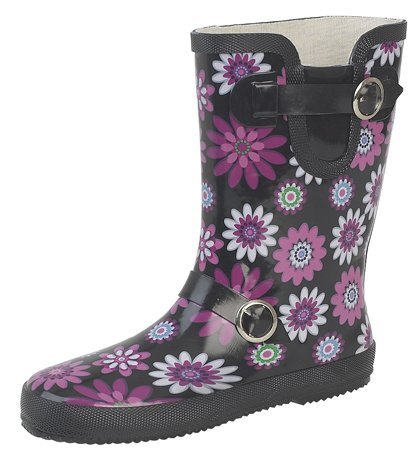 Stormwells Ladies Short Leg Buckle/Strap Wellies, Wider-Calf Fitting