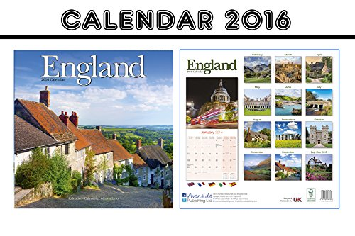 ENGLAND CALENDARIO CALENDAR 2016