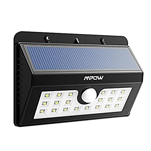 20 LED Solar Lights, Mpow 3-in-1 Wireless Weatherproof Security Light Motion Sensor Lamp with 3 Intelligent Modes for Garden, Outdoor, Fence, Patio, Deck, Yard, Home, Driveway, Stairs, Outside Wall etc.