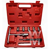 Wonderman Tools WMT01311 7Pc Diesel Injector Seat Cutter Cleaner Tool Set Carbon Remover