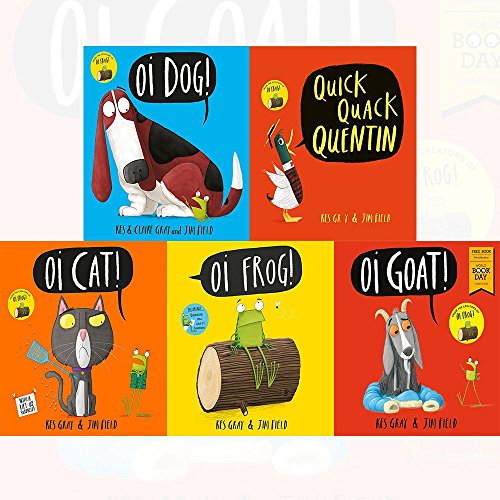 kes gray oi frog and friends series 6 books collection set - (quick quack quentin,oi dog!,oi cat!,oi frog!,oi goat!: world book day 2018)