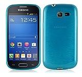 Cadorabo Coque pour Samsung Galaxy Trend Lite en Turquoise – Housse Protection Souple en Silicone TPU avec Anti–Choc et Anti–Rayures – Ultra Slim Fin Gel Case Cover Bumper