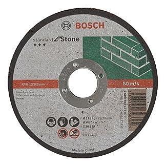 Bosch 2 608 603 177 – Disco de corte recto Standard for Stone – C 30 S BF, 115 mm, 22,23 mm, 3,0 mm (pack de 1)