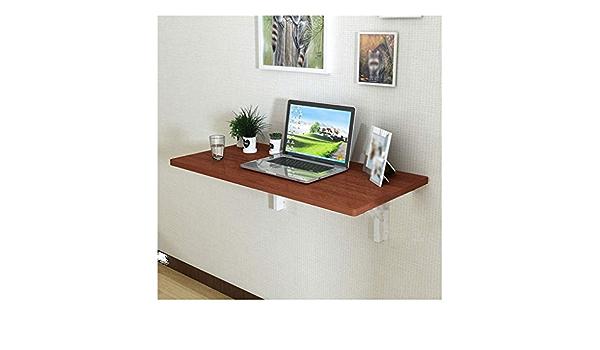 Noir//Noyer Plasaig-Bureau Pliant pour Petits Espaces.Home Office Petit Bureau avec Pieds en M/étal.Bureau dordinateur Compact et /étanche.