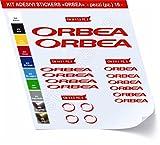 Adesivi Bici ORBEA _kit 1_ Kit adesivi stickers 16 Pezzi -SCEGLI SUBITO COLORE- bike cycle pegatina Cod.0466 (Rosso cod. 031)