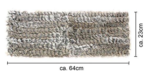 Fourrure écharpe tubulaire en tricot rondes kanin écharpe en fourrure de lapin fourrure de lapin 4–xY Gris