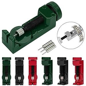 Colorful Uhrmacherwerkzeug, Uhrenarmband Strap Kettenbolzen Remover Reparatursatz Werkzeug für Uhrmacher mit 3 Extra Pins
