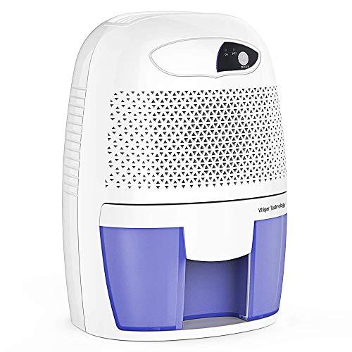 Deshumidificador eléctrico, Mini deshumidificador de aire compacto, tanque de agua desmontable de 300 ml, indicador LED, automático, eficiente, silencia