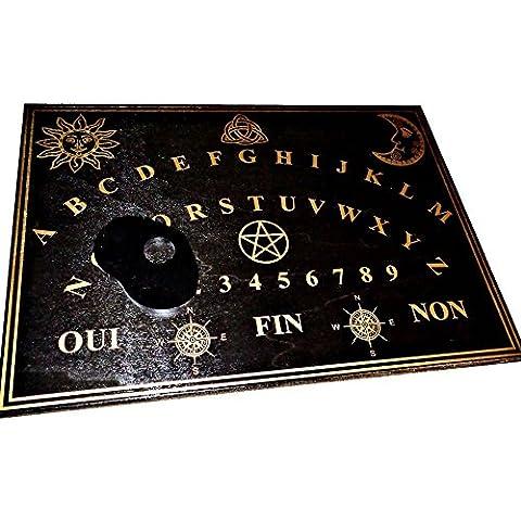 Planche Ouija Noire en bois 49 x 35 cm avec sa planchette