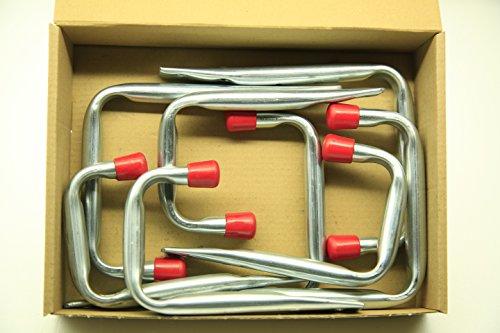 VORMANN Wandhaken U-Form, 8-teiliges Set, 2 Größen, Made in Germany