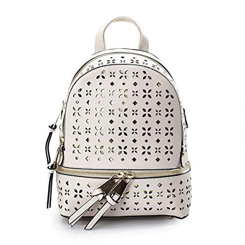 Minisu borsa impermeabile, zaino di cuoio dell'unità di elaborazione dello zaino di cuoio molle delle ragazze per la scuola ed il viaggio (colore : white)