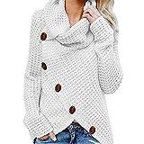 Sufeng Women Button Long Sleeve Sweater Sweatshirt Pullover Tops Blouse Shirt