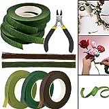 Blumengesteck Werkzeug-Set, grün-braunes Blumenband, 26 Gauge, Draht und Blumendraht, für Blumenstrauß, Floristen, Hochzeit, Blumenzubehör