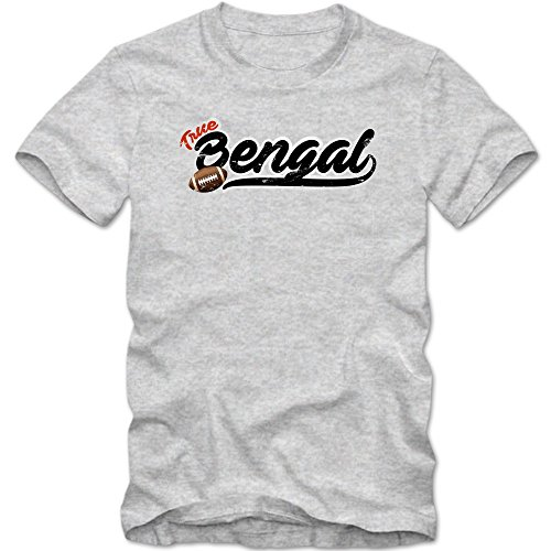 True Bengal #5 T-Shirt | Football | Herren | Super Bowl | Play Offs | USA © Shirt Happenz Graumeliert (Grey Melange L190)