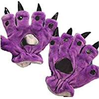 lifenewbaby franela guantes suave Cartoon Animal Paw, niños/adultos Anime Cosplay accesorios