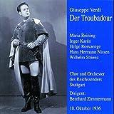 Verdi : Trovatore (dt.) 1936. Zimmermann, Rosvaenge, Reining, Nissen, Strienz.