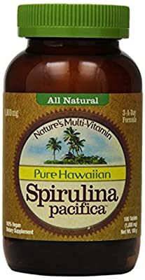 Nutrex Hawaii Hawaiian Spirulina Pacifica 1000 Mgs., 180-Tablet Bottle from Nutrex