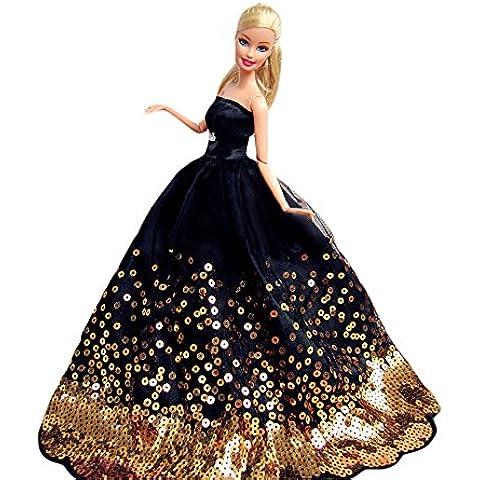 Barbie abbigliamento, MyCity paillettes senza spalline vestito