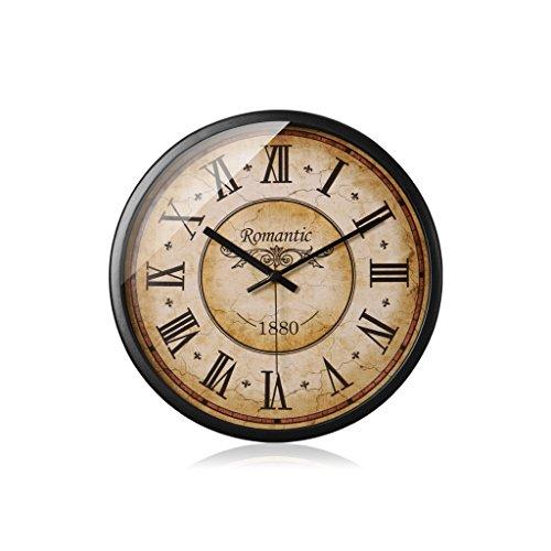 Couleur Argent Salon Personnalité Moderne Horloge Murale